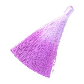 Tassel / viscose thread / ombre / wide braid / 100mm / width 10mm / pink / 1pcs