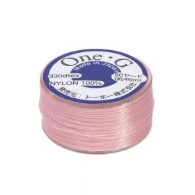 TOHO One-G ™ / nylon thread for beads / Pink / thickness 0.35mm / 46m