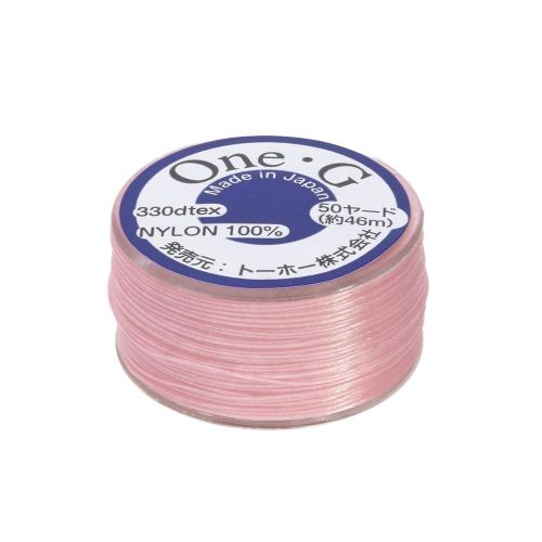 TOHO One-G ™ / nylon thread for beads / Pink / thickness 0.2mm / 46m