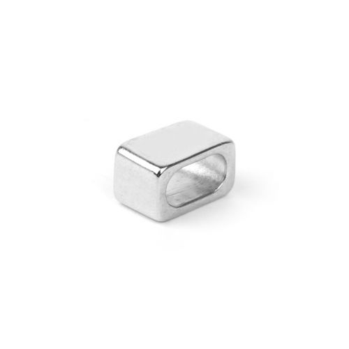 Titanium Plated Rectangle Slider Bead 8x12mm Pk1