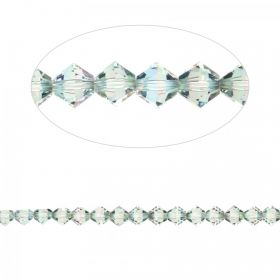 5328 Swarovski Crystal Bicones Xillion 4mm Crystal Paradise Shine Pk24