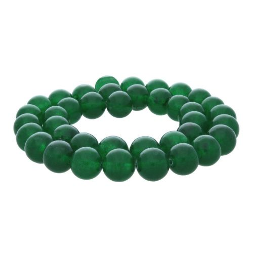 Agate / round / 3mm / bottle green / 120pcs