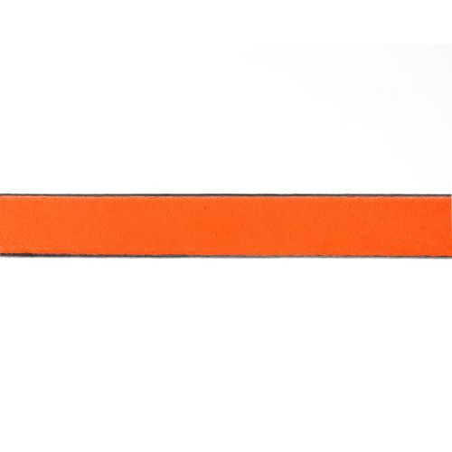 X-Orange Flat Genuine Leather with Black Edge 10x2mm 1metre