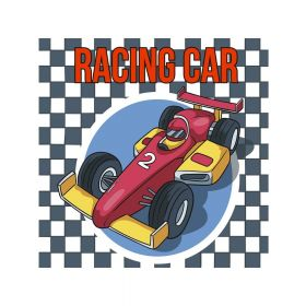 Diamond painting / 5d mosaic / racing car / 20x20cm / 1pc