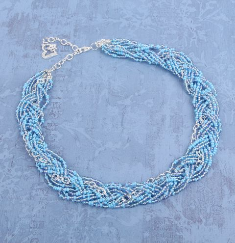 Spring Sky Plaited Necklace