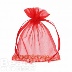 "Red Organza Bag 5""x6.5"" Pack 5"