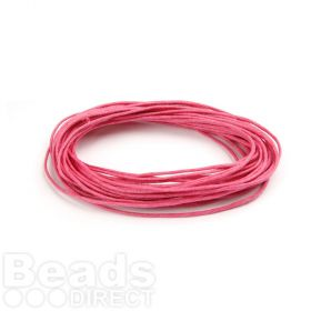 Waxed Cotton Cord 1mm Fuchsia Pink 5metres