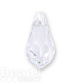 6000 Swarovski Faceted Drop Pendant 13x6mm Crystal Clear Pk2