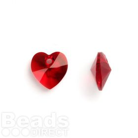 6228 Swarovski Crystal Hearts 10mm Siam Pk2