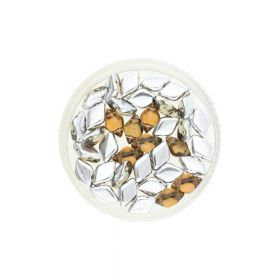 GEMDUO™ / 8x5mm / Backlit / Acorn / 5g / ~35pcs