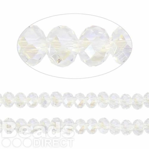 Essential Crystal Faceted 6mm Rondelle Crystal AB 100pack