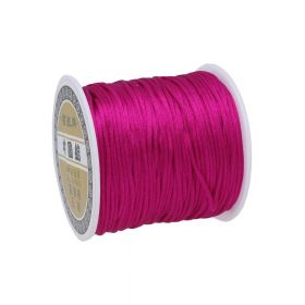 Satin cord / 1.5mm / dark pink / 70m