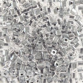 Miyuki Cube Beads 4mm Colour Lined Grey 10g