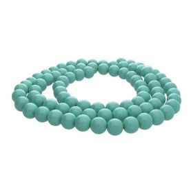 Milly™ / round / 8mm / teal green / 105pcs