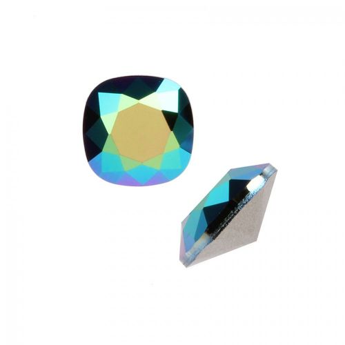 4470 Swarovski Crystal Square Fancy Stone 10mm Crystal Scarabaeus Green F Pk1