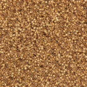 Toho Size 15 Round Seed Beads Frosted Gold Lined Crystal 10g