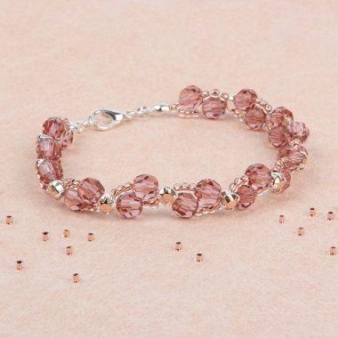 Blush Rose Side by Side Bracelet