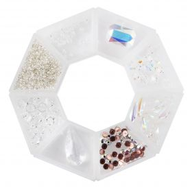 Beads Direct 'Bridal' Beads and Crystal Selection with Storage Ring