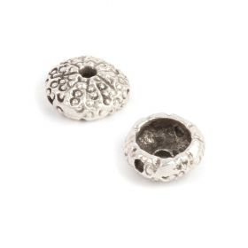 Antique Silver Sea Urchin Bead 5x11mm Pk1
