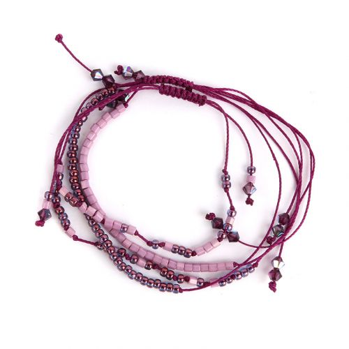 Beads Direct Secret Message Bracelet - Violet