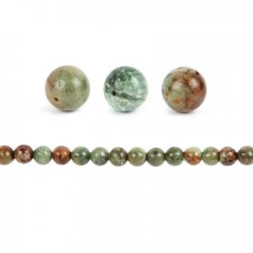 Green Opal Semi Precious Round Beads 10mm Pk10