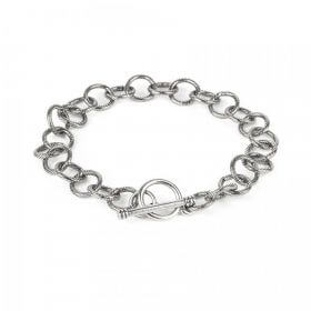 Nunn Design Antique Silver Link Bracelet Chain with Toggle 21cm Pk1