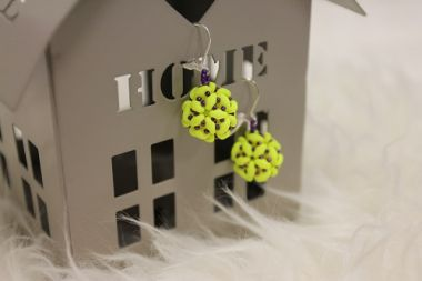 SuperDuo Bauble Earrings - step by step jewellery making tutorial