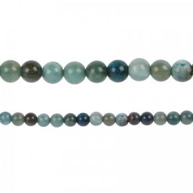 "Blue Apatite Semi Precious Round Beads 4mm 15"" Strand"