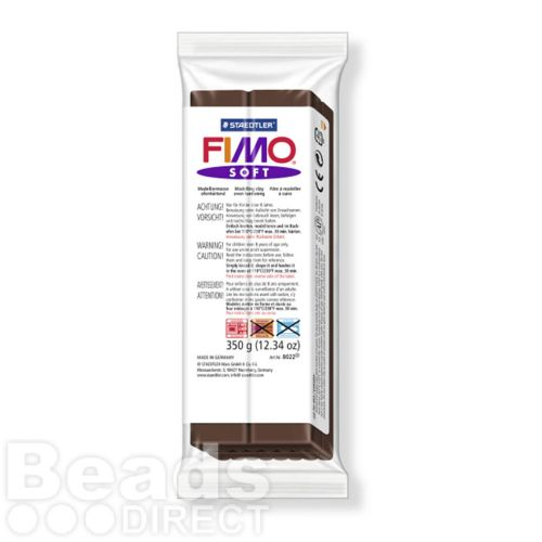 Staedtler Fimo Soft Polymer Clay Chocolate 350g (12.34oz)