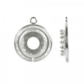 Antique Silver Bezel Cup Setting 12mm/19.5mm Pk1
