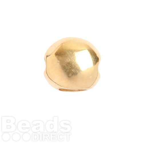 Gold Plated 3 Hole Slider Bead 9mm Pk1