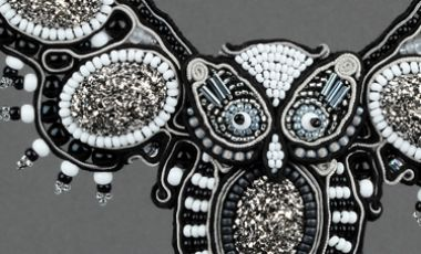 Soutache Night Owl by Anne Waller