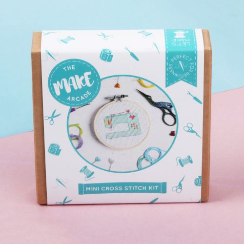 The Make Arcade Mini Cross Stitch Sewing Machine Kit