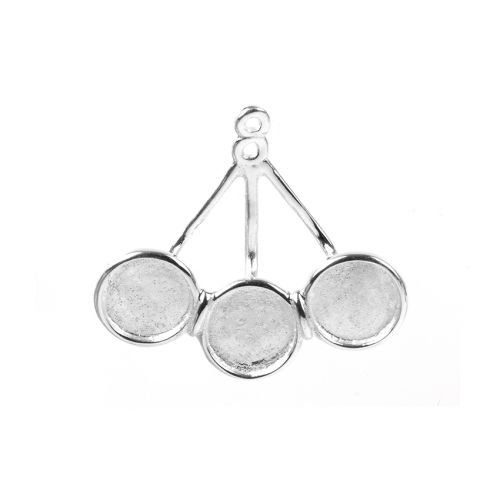 Sterling Silver 925 Earring Jacket Holds 3xSS34 1xPair