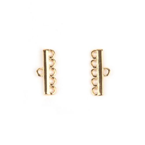 Gold Plated 5 Strand Ends 8x18mm 1xPair