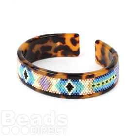 Beads Direct Native American Toho Aiko Tortoise Slim Cuff Kit