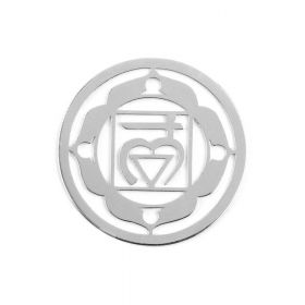 Sterling Silver 925 'Earth' Chakra Connector 24mm Pk1