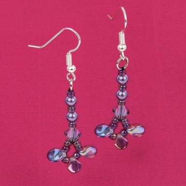 Purple Pips Earrings
