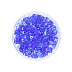SuperDuo™ / glass beads / 2.5x5mm / AB / Sapphire / 10g / ~140pcs
