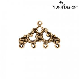 Nunn Design Antique Gold Filigree Charm 4-Loop 16x25mm Pk1