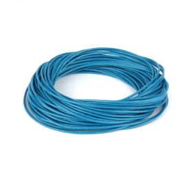 Shiny Coated Braiding Cord 1mm Blue 10m