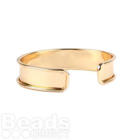 Gold Plated Brass Bangle Base 14.5x66mm Pk1