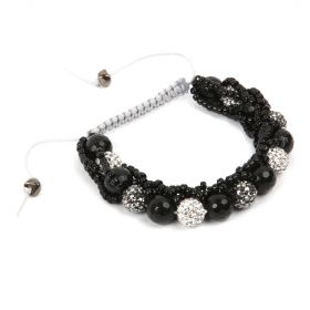Beads Direct Shamballa  and Seed Bead Bracelet Kit Gunmetal - Makes x1