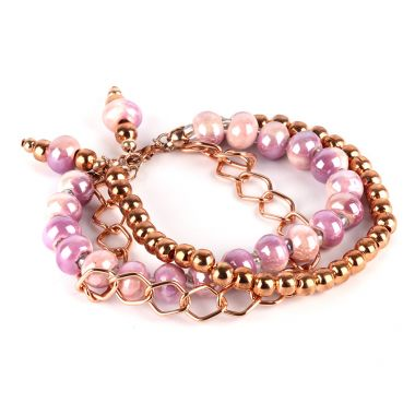 Ceramic & Rose Gold Bracelet