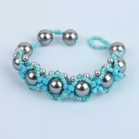 Grey and Turquoise Hugs and Kisses Take a Make Break - Makes x1
