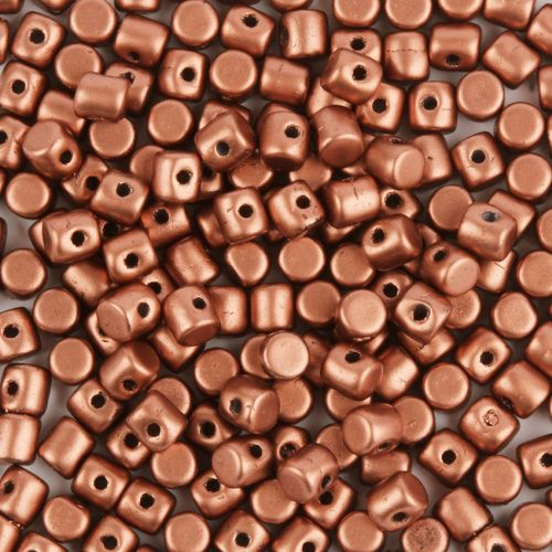Matte Copper Gold Minos Par Puca Glass Beads 2.5x3mm 10g