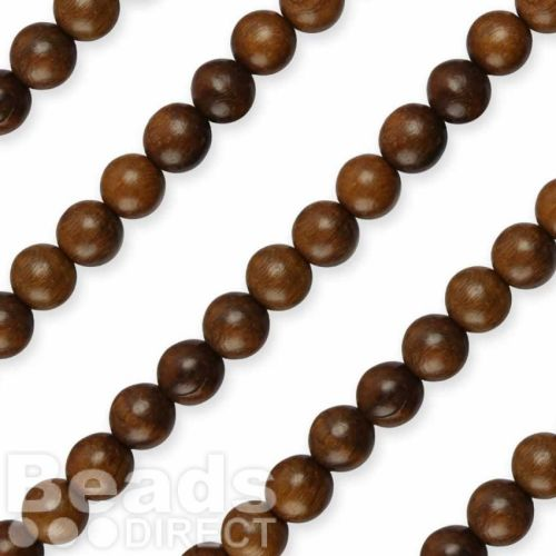 """Robles Round Natural Wood Beads 10mm 16"""" Strand"""