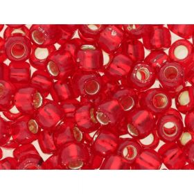 TOHO™ / Round 3/0 / Silver Lined / Siam Ruby / 10g / ~ 60pcs