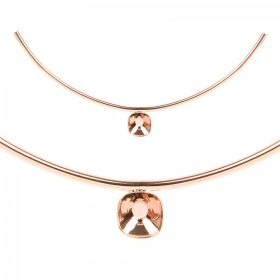 Rose Gold Plated Curved Tube with 12mm Setting 160x3mm PK1