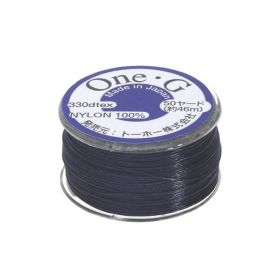 TOHO One-G ™ / nylon thread for beads / Navy / thickness 0.35mm / 46m